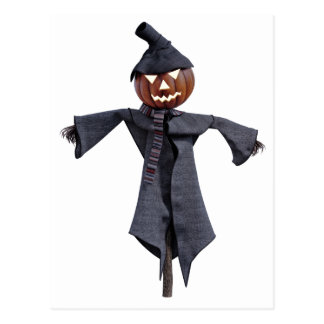 Jack O Scarecrow with Bright Eyes Postcard