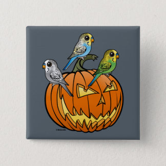 Jack O'Budgies 2 Inch Square Button