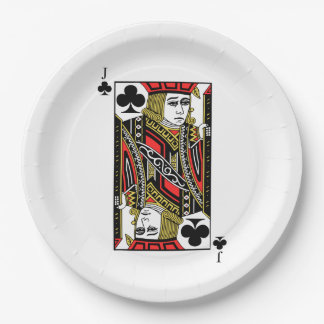 Jack of Clubs 9 Inch Paper Plate