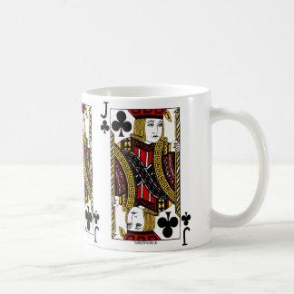Jack Of Clubs Playing Card Coffee Mug