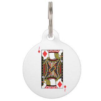 Jack of Diamonds - Add Your Image Pet ID Tag