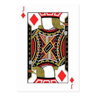 Jack of Diamonds - Add Your Images Large Business Card