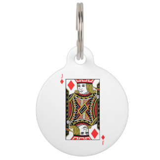 Jack of Diamonds Pet ID Tag