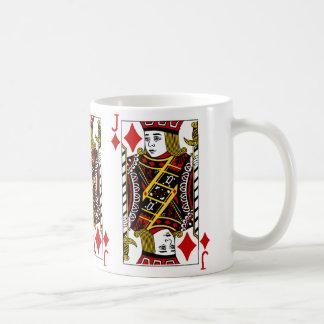 Jack Of Diamonds Playing Card Coffee Mug