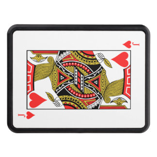 Jack of Hearts - Add Your Image Trailer Hitch Cover
