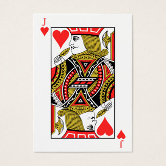 Jack of Hearts Business Card