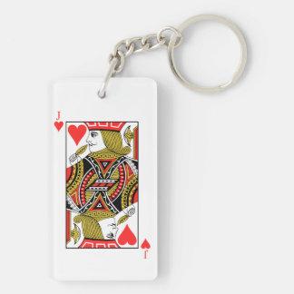 Jack of Hearts Double-Sided Rectangular Acrylic Keychain