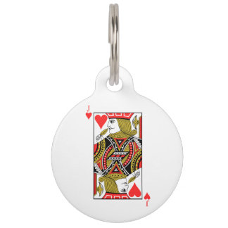 Jack of Hearts Pet ID Tag