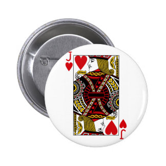 Jack Of Hearts Playing Card Button Badge