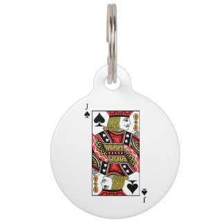 Jack of Spades Pet Tag