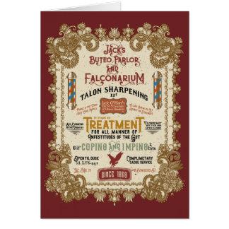 Jack O'Hares Buteo Parlor and Falconarium Card