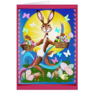 Jack Rabbit Express Easter Greeting Card