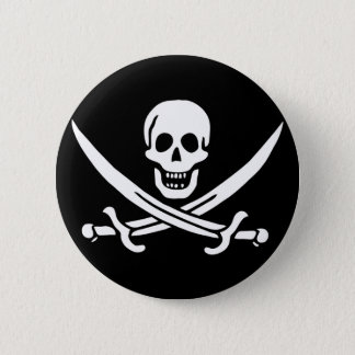Jack Rackham; Jolly Roger Flag; Pirate 2 Inch Round Button
