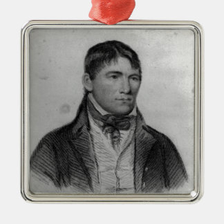 Jack Randall, engraved by Hopwood Silver-Colored Square Ornament
