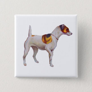 Jack Russel 2 Inch Square Button
