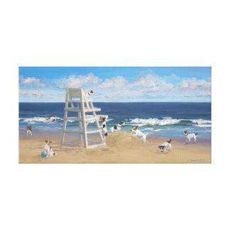 Jack Russel Tails #1 Canvas Print