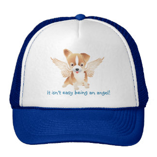 Jack Russel Terrier Angel Dog Baseball hat Blue