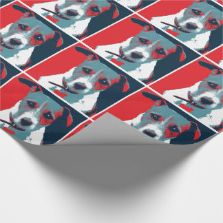 Jack Russel Terrier Political Hope Parody Wrapping Paper