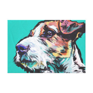 Jack Russel Terrier Pop Dog Art on Wrapped Canvas