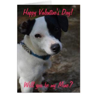 Jack Russel Valentines Card