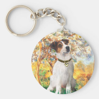 Jack Russell 3 - Spring Keychain