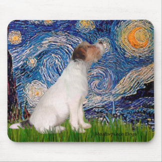 Jack Russell 5 - Starry Night Mouse Pad
