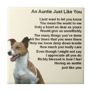 Jack Russell - Auntie Poem Tile