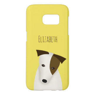 Jack Russell cute dog with head tilted Samsung Galaxy S7 Case
