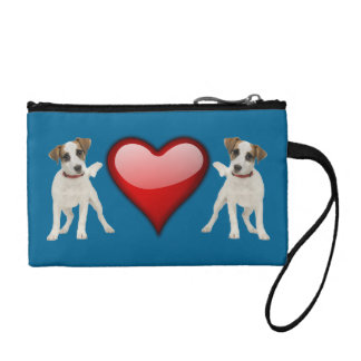 jack russell dog coin purse