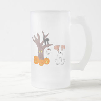 Jack Russell Fall Frosted Mug
