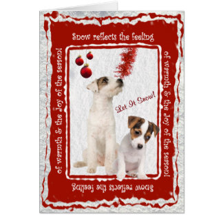 Jack Russell Let It Snow Greeting - Customizable Card