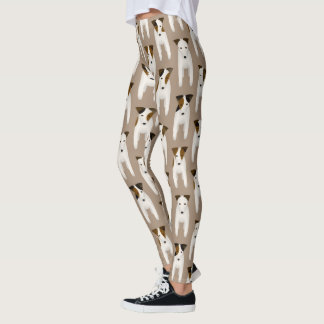 Jack Russell lovers patterned taupe Leggings