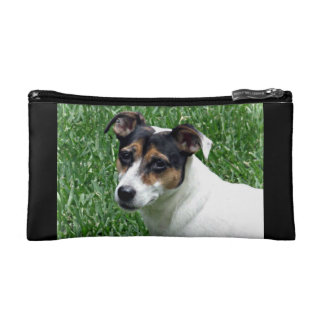 Jack russell mom's cosmetic bag