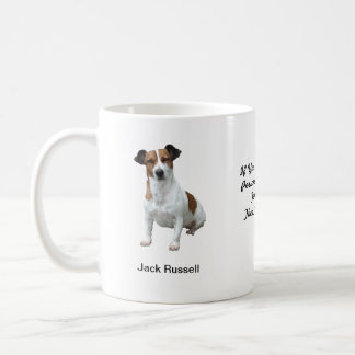 Jack Russell Mug - With two images and a motif