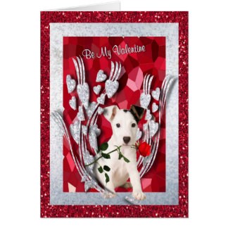 Jack Russell Puppy Be My Valentine Second Version Card