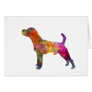 Jack Russell Terrier 01 in watercolor 2 Card