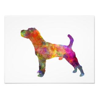Jack Russell Terrier 01 in watercolor 2 Photo Print