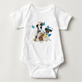Jack Russell Terrier Angel Baby Kids Shirts