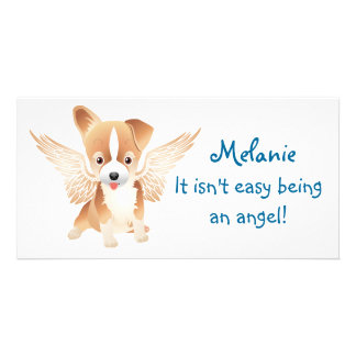 Jack Russell Terrier Angel Dog Photo Prints Picture Card