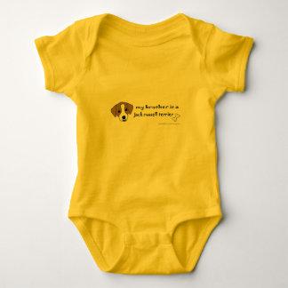 jack russell terrier baby bodysuit