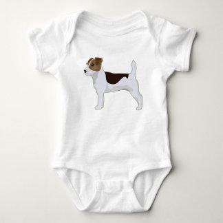 Jack Russell Terrier Basic Breed Illustration Baby Bodysuit
