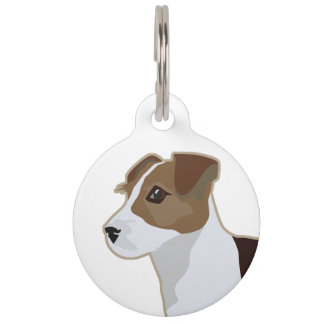 Jack Russell Terrier Basic Breed Illustration Pet ID Tag