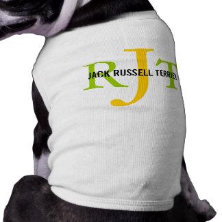 Jack Russell Terrier Breed Monogram Pet Tee