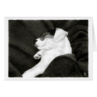 """Jack Russell Terrier Card -  """"Bliss"""""""