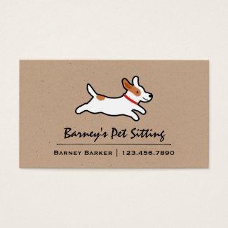 Jack Russell Terrier Cartoon Dog Business Card