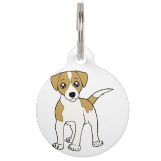 jack-russell-terrier cartoon pet name tag