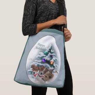 Jack Russell Terrier Christmas Crossbody Bag
