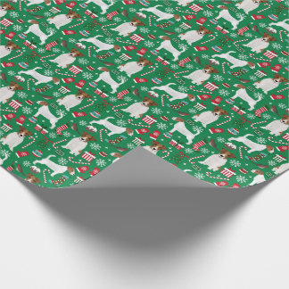 Jack Russell Terrier Christmas wrapping paper