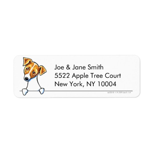 Jack Russell Terrier Clean & Simple Return Address Label