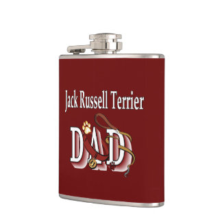 Jack Russell Terrier Dad Flask